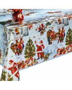 Toile-cirée-Père-Noël