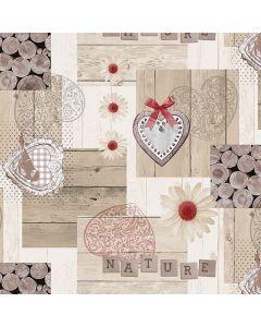 natuur-bloemetjes-hartjes-hout-romantisch tafelzeil