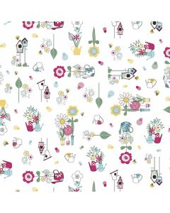 bloemen-planten-vogels-tafelzeil-kleurrijk