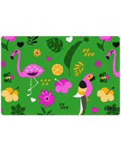 lola-placemats-afwasbaar-groen-roos-flamingo-papegaai-dieren-speels-zomer-exotisch